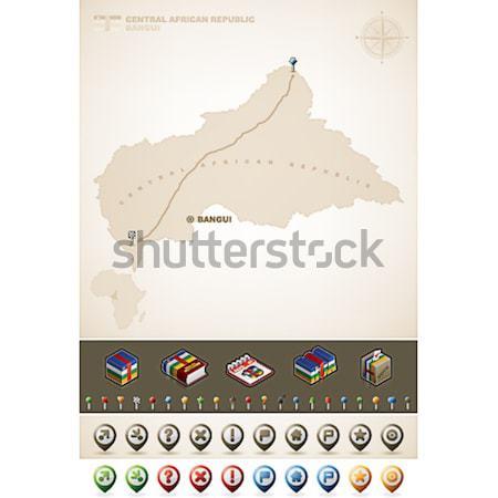 Sénégal république Afrique cartes supplémentaire Photo stock © Vectorminator