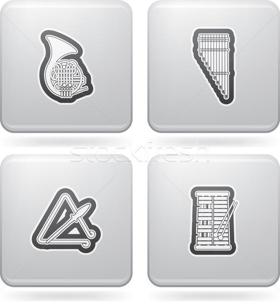 Music icons Stock photo © vectorminator
