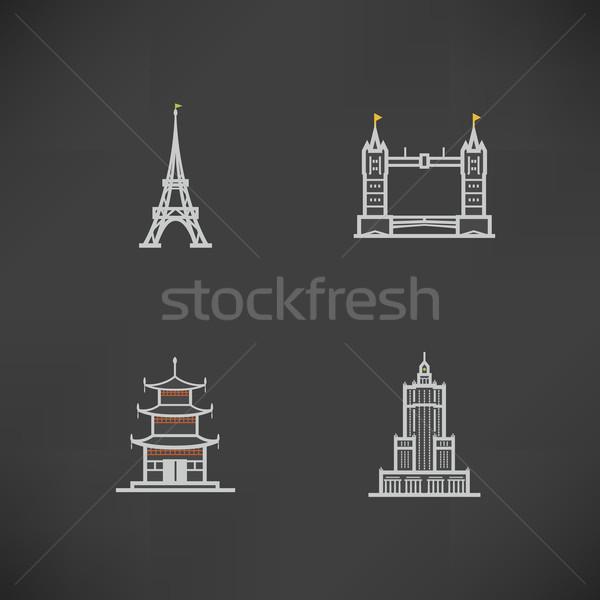Stok fotoğraf: Dünya · ünlü · mimari · etrafında · burada · doğru