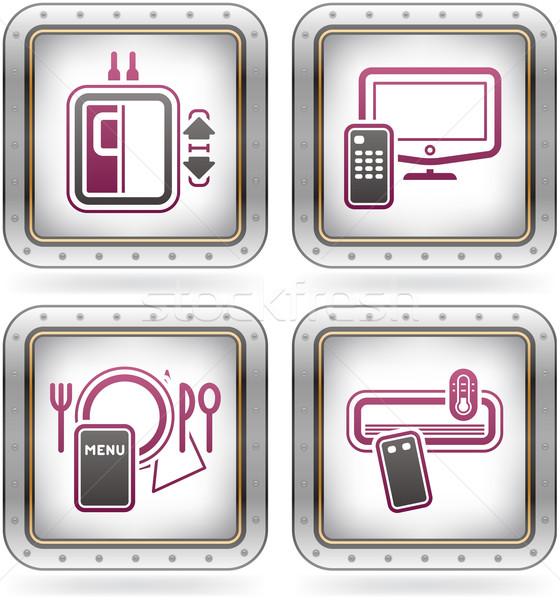 Hotel Related Icons Stock photo © Vectorminator