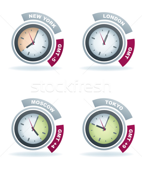 Stock photo: Office Supply (part of the 22 Degrees Blue Icons Set)