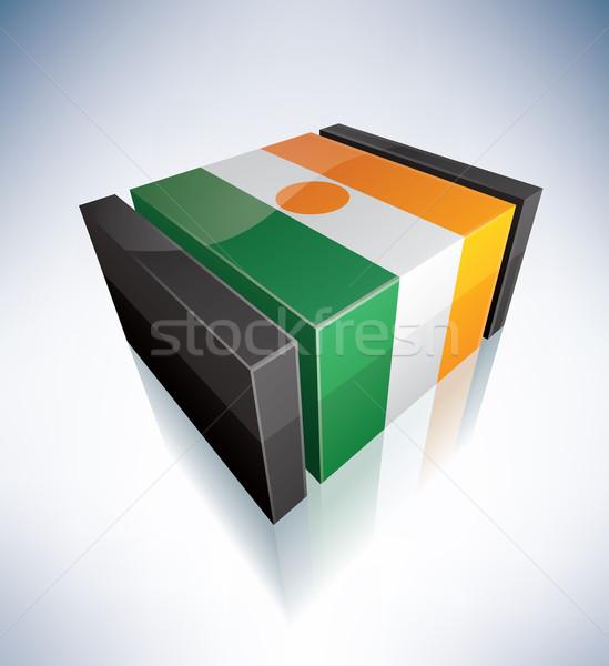3D флаг Нигер Африка республика флагами Сток-фото © Vectorminator