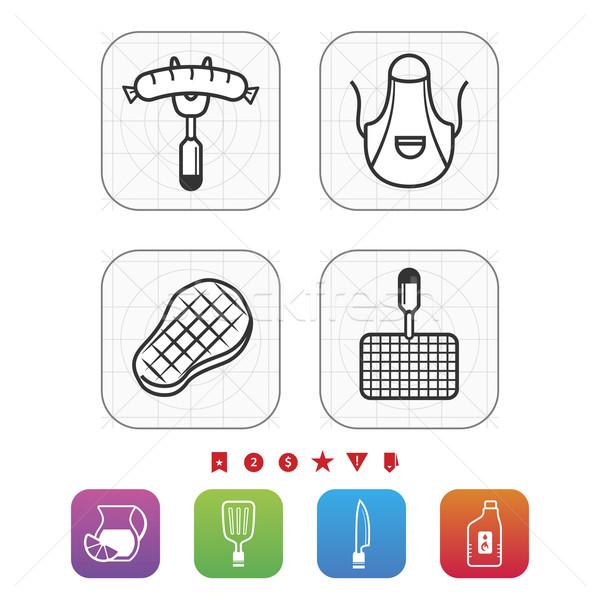 барбекю продовольствие объекты другой Сток-фото © Vectorminator