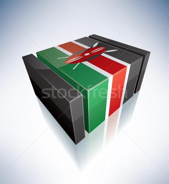3D pavillon Kenya Afrique république drapeaux Photo stock © Vectorminator