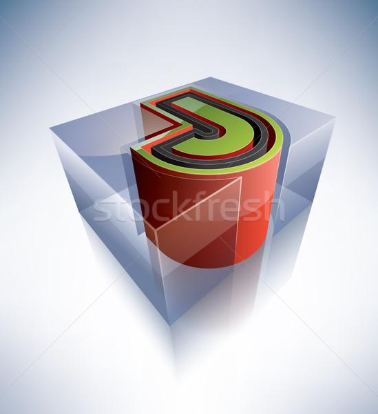 3D алфавит прозрачный Ice Cube подобно Сток-фото © Vectorminator