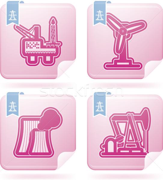Ipar ikonok nehéz szimbólumok helyes felső Stock fotó © Vectorminator