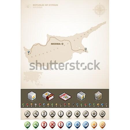 ボツワナ 共和国 アフリカ マップ プラス 余分な ストックフォト © Vectorminator