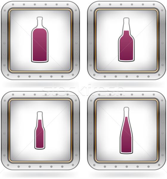 Photo stock: Alcool · verres · gamme · bouteilles · bière · vodka