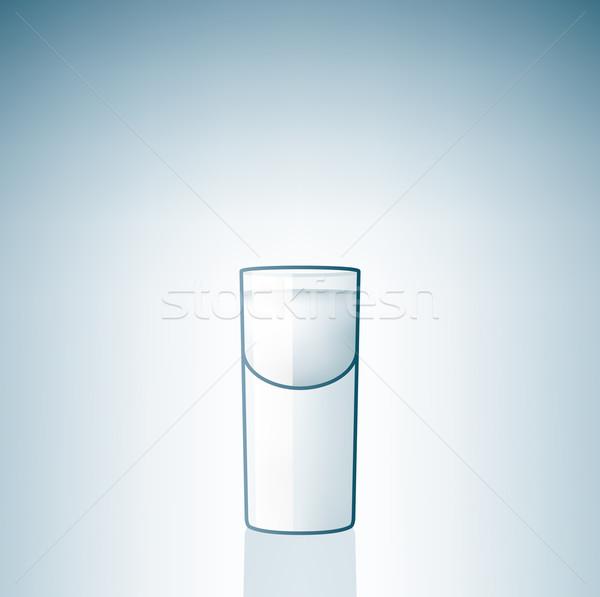 Vodka verre alcool boire bouton Photo stock © Vectorminator