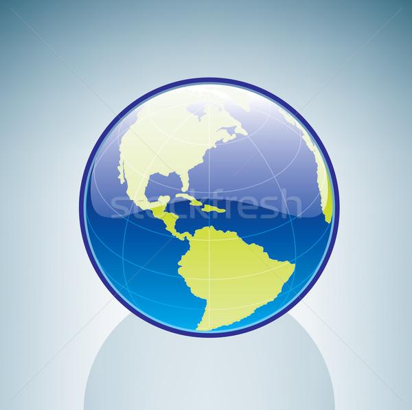 ストックフォト: 世界中 · 3D · アイソメトリック · 地球 · にログイン