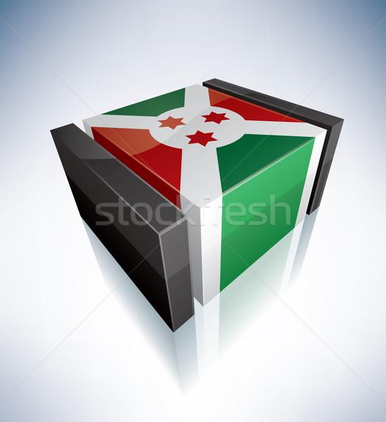 3D bandeira Burundi África república bandeiras Foto stock © Vectorminator