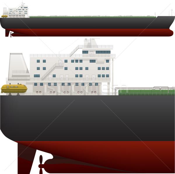 óceán hajó oldal magas részletes kilátás Stock fotó © Vectorminator