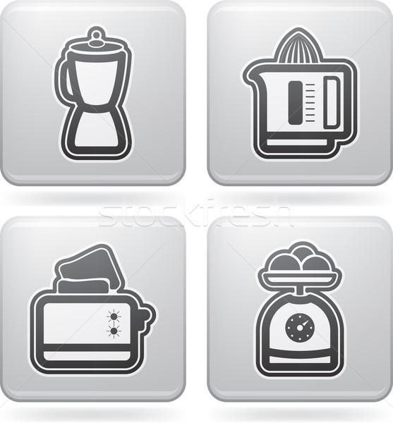 кухне дома объекты право Top Сток-фото © Vectorminator