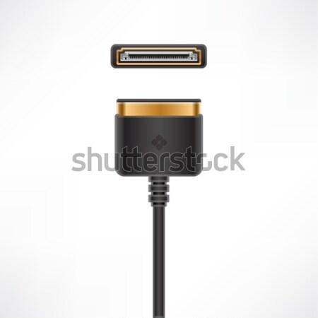 Multimedialnych dok kabel wtyczkę gniazdo komputera Zdjęcia stock © Vectorminator
