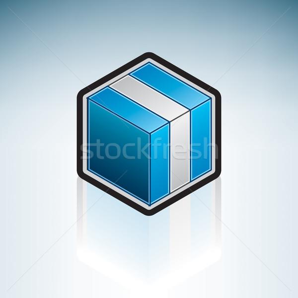Guatemala latin amerika bayrak cumhuriyet 3D izometrik Stok fotoğraf © Vectorminator