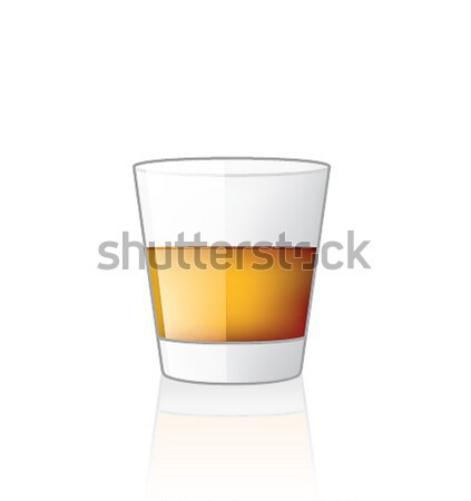 Scotch / Whiskey Glass Stock photo © Vectorminator