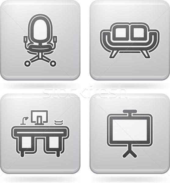 Iroda ellátás tárgyak szerszámok helyes felső Stock fotó © Vectorminator