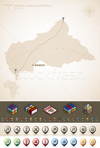 Central africaine république Afrique cartes Photo stock © Vectorminator