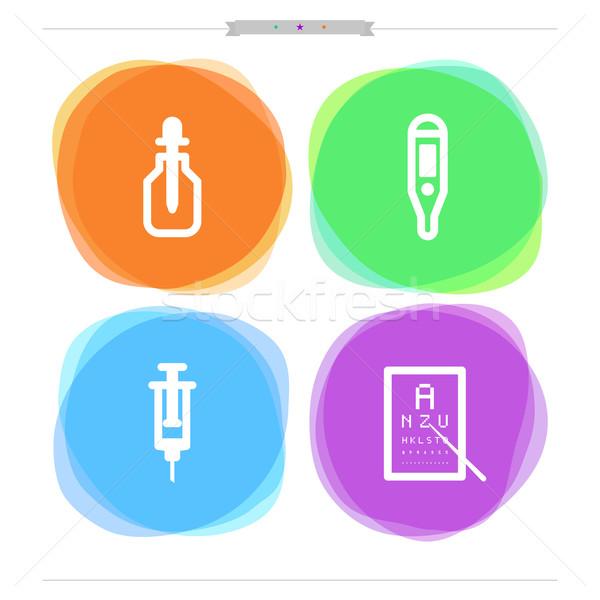 здравоохранения медицина бутылку пипетка электронных термометра Сток-фото © Vectorminator