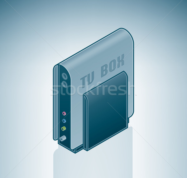 External TV Tuner Box Stock photo © Vectorminator
