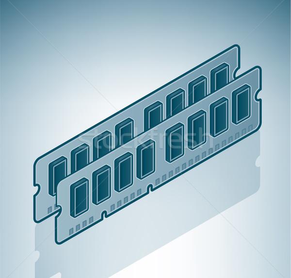 Widder Chips 3D Computer Hardware Stock foto © Vectorminator