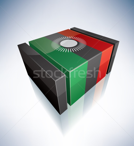 3D flag of Malawi Stock photo © Vectorminator