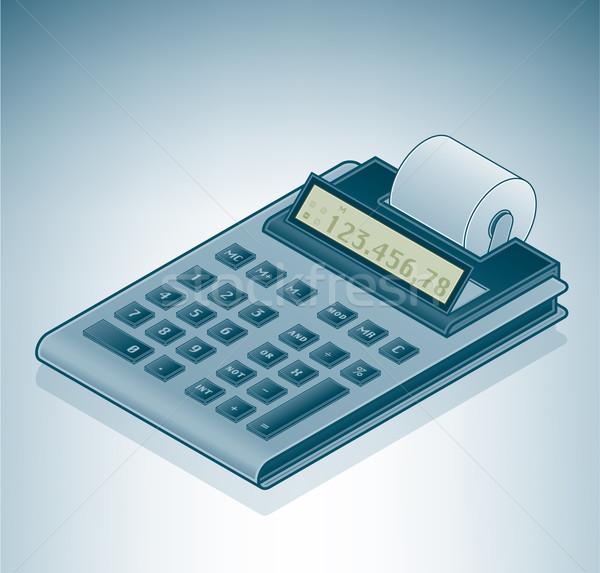 Stockfoto: Calculator · isometrische · 3D · computer · hardware