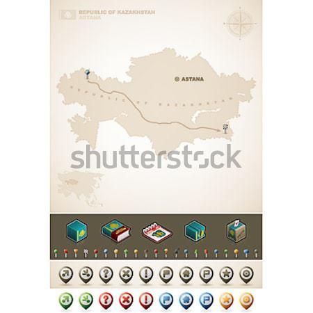 Stany Zjednoczone Ameryki USA Pokaż na północ mapy Zdjęcia stock © Vectorminator