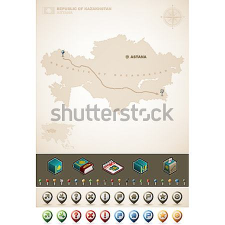 Stockfoto: Verenigde · Staten · amerika · USA · kaart · noorden · kaarten