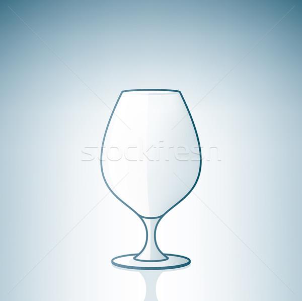 Vazio brandy conhaque álcool vidro Foto stock © Vectorminator