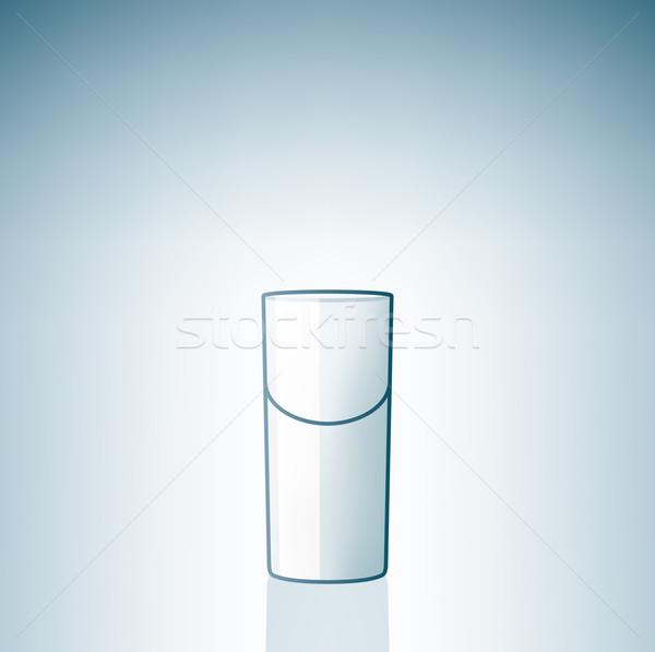 Empty Vodka Shoot Glass Stock photo © Vectorminator