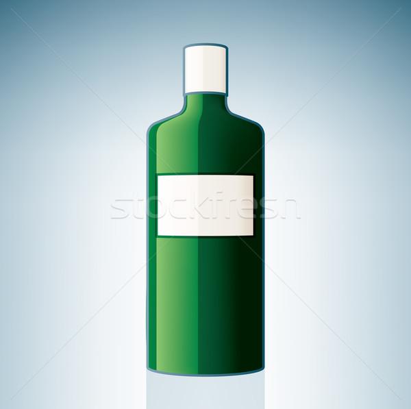 ジン ボトル アルコール ガラス ドリンク ストックフォト © Vectorminator