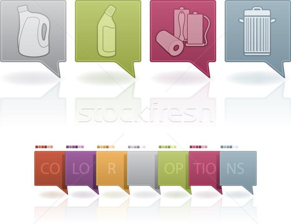 Czyszczenia przybory chemia wybielacz butelki Zdjęcia stock © Vectorminator
