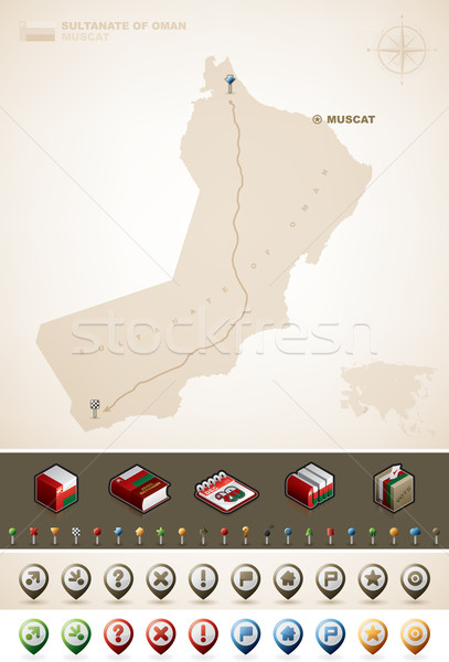 Sultanate of Oman Stock photo © Vectorminator