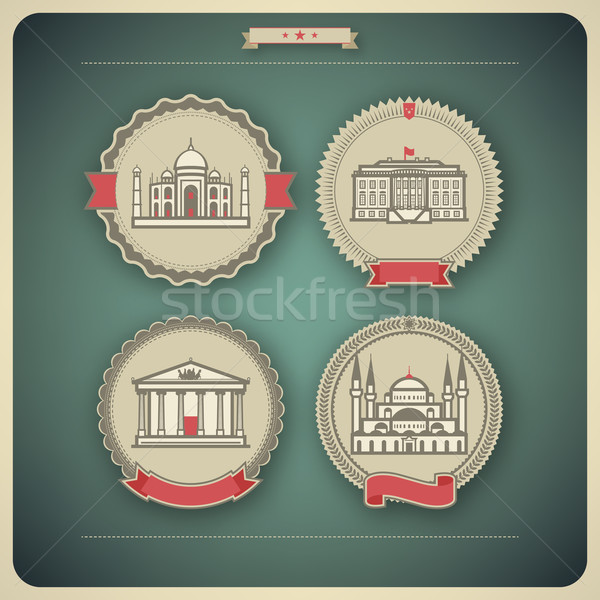 Mundo famoso arquitectura alrededor aquí Foto stock © Vectorminator