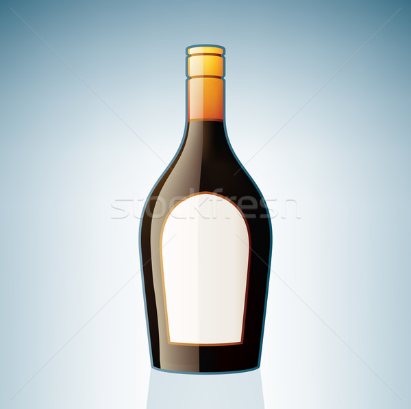 Brown Liqueur Bottle Stock photo © Vectorminator