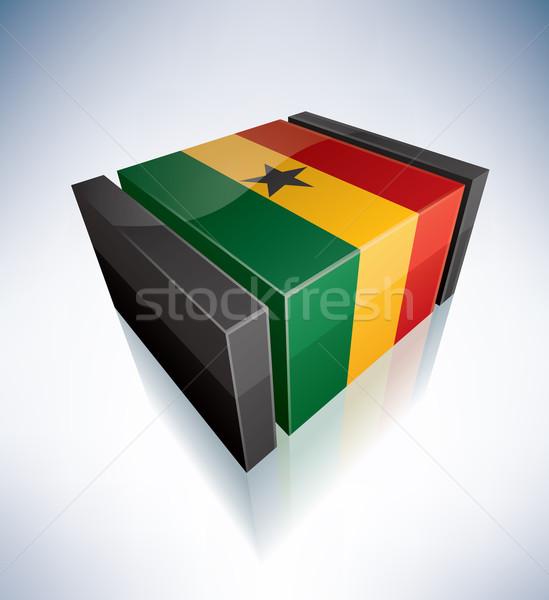 3D flag of Ghana Stock photo © Vectorminator