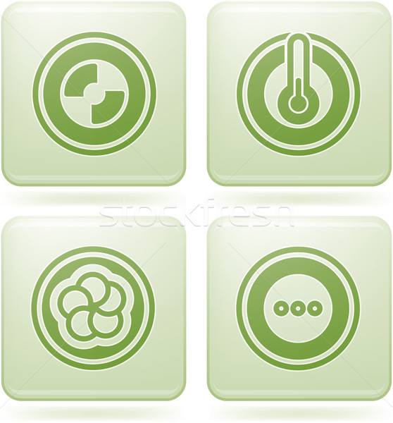 Olivine Square 2D Icons Set: Abstract Stock photo © Vectorminator