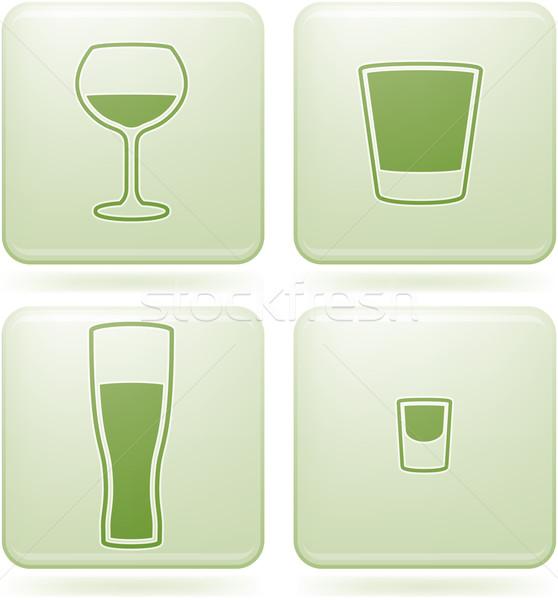 Placu alkoholu szkła okulary Zdjęcia stock © Vectorminator