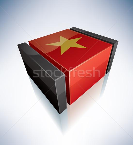 3D pavillon Viêt-Nam Asie république drapeaux Photo stock © Vectorminator