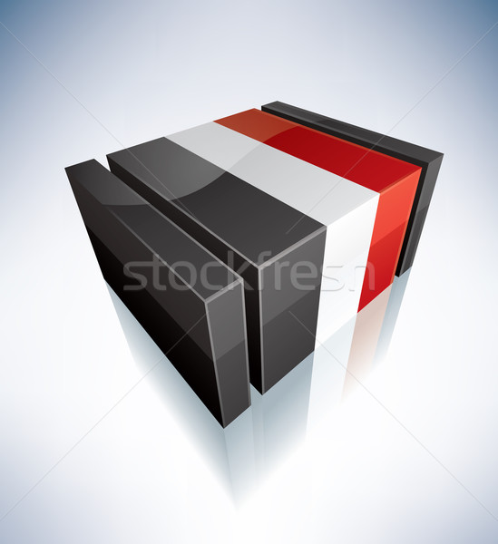 3D bandeira Iémen Ásia república bandeiras Foto stock © Vectorminator