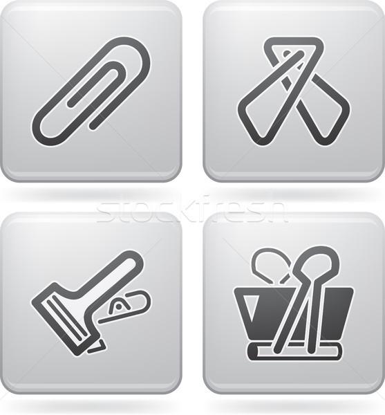Ofis tedarik nesneler farklı ataş tüm Stok fotoğraf © Vectorminator