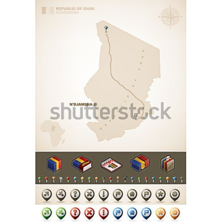 共和国 チャド アフリカ マップ プラス 余分な ストックフォト © Vectorminator