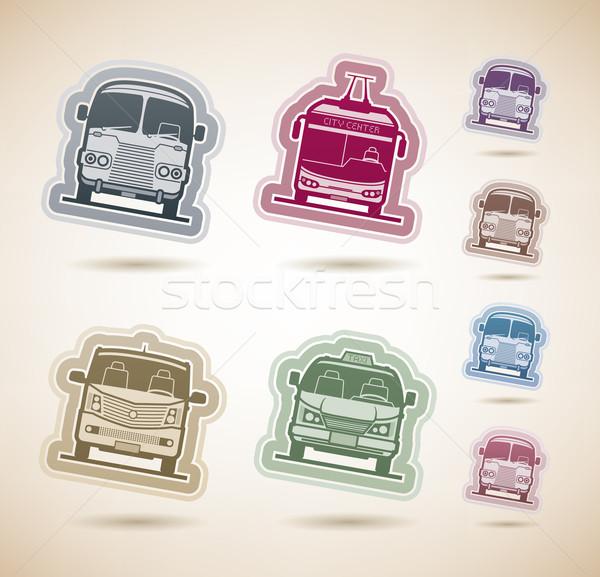 Vervoer openbaar vervoer grond voertuigen hier Stockfoto © Vectorminator