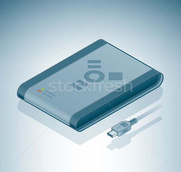 Portable Hard Disk Drive (Firewire) Stock photo © Vectorminator