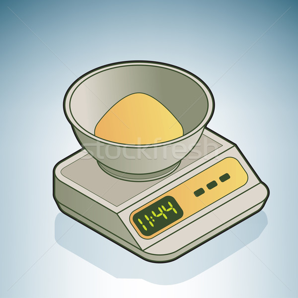 Kitchen Scale Stock photo © Vectorminator