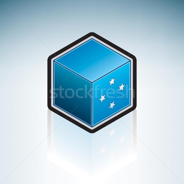 Микронезия Океания флаг 3D изометрический стиль Сток-фото © Vectorminator