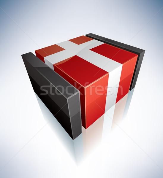 3D flag of Denmark Stock photo © Vectorminator