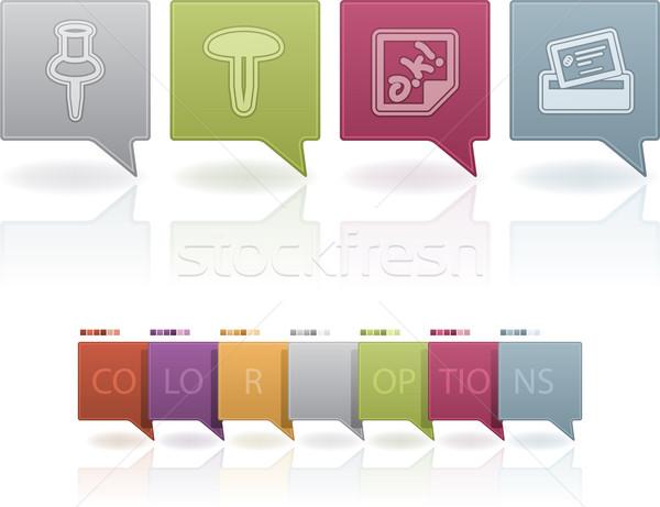 Ufficio fornire oggetti disegno pin adesivo Foto d'archivio © Vectorminator