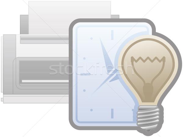Printer Power Saver Management Icon Stock photo © Vectorminator